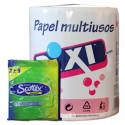 Rollos de papel y pañuelos