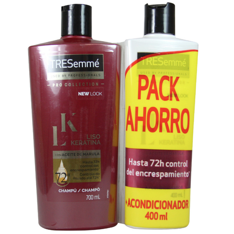 Tresemme Pack Shampoo 700 Ml Conditioner 300 Ml Smooth Keratin Tarraco Import Export