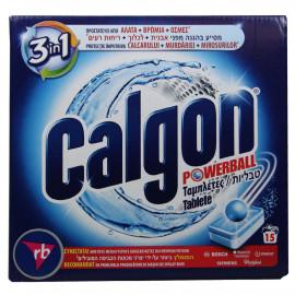 Calgon Powerball pastillas antical 3 en 1 15 u.
