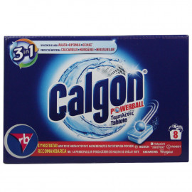 Calgon Powerball pastillas antical 3 en 1 8 u. 104 gr.