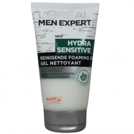 L'Oréal Men expert cleaning gel 150 ml. Hydra Sensitive without alcohol.