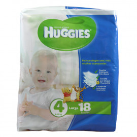 Huggies nappies size 4, 9-15 kg. 18 u.