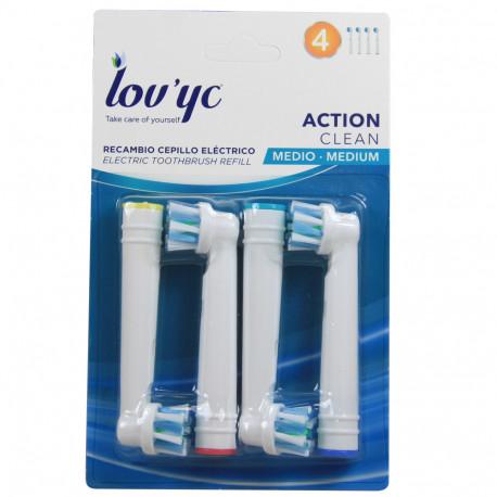 Lov'yc recambio cepillo eléctrico 4 u. Action Clean minibox 20 u.
