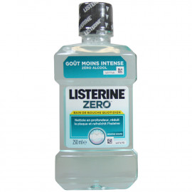 Listerine antiséptico bucal 250 ml. Zero sin alcohol.