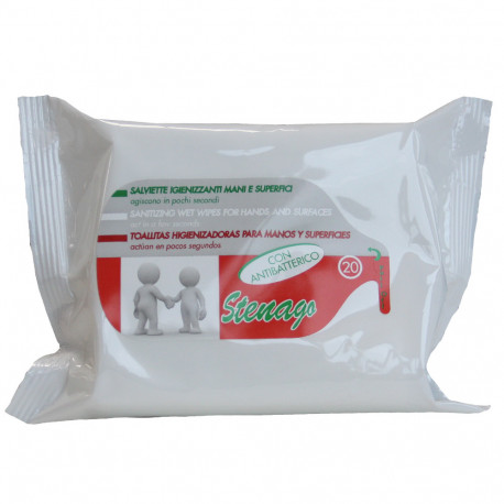 Sanitary wipes 20 u. Antibacterial.