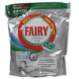 Fairy platinum 24+10 u. original cápsulas.