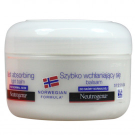 Neutrogena body lotion 200 ml. Fast absorbing light balm.