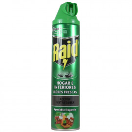 Raid spray insecticide 600 ml. Flies and mosquitoes home and plants.