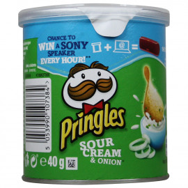 Pringles patatas 40 gr. Sour Cream & Onion.