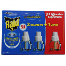 Raid antimosquito electric device 45 nights pack de 3 u.