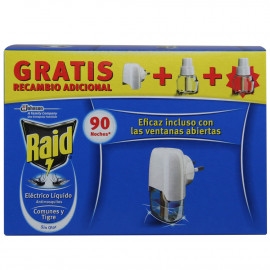 Raid antimosquito electric device with refill 90 night pack of 2 u.