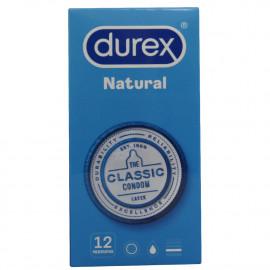Durex condoms 12 u. Natural.
