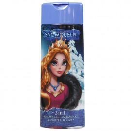 Reina de las nieves gel de ducha y champú 2 en 1 (rosa) 400 ml.