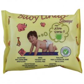 Baby Lindo baby wipes 20 u. Aloe Vera.