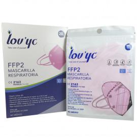Lov'yc mask FFP2 - 1 u. Pink minibox.