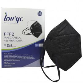 Lov'yc protective facial mask FFP2 -1 u. Black minibox.