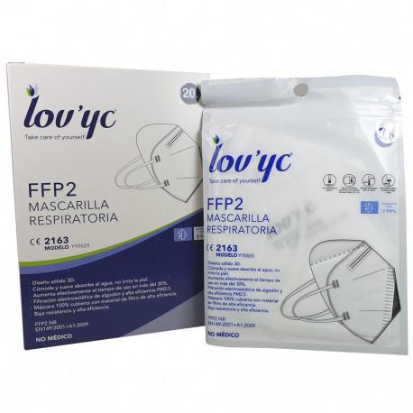 Lov'yc mascarilla protección facial FFP2 1 u. Blanca minibox.