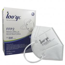 Lov'yc mascarilla protección facial ffp2 1 u. blanca.