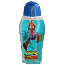 Spiderman gel & shampoo 400 ml. Blue.