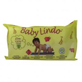 Baby Lindo baby wipes 72 u. Aloe Vera.