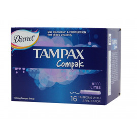 Tampax Compak 16 u. Max Discretion & Protection.