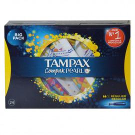 Tampax Compak Pearl 24 u. Regular.