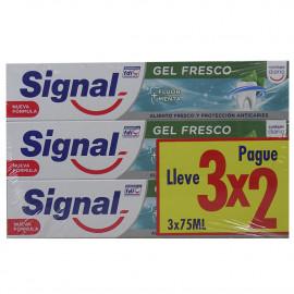 Signal toothpaste pack 3X2 Fresh Gel.