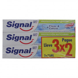 Signal toothpaste pack 3X2 Cavity protection.
