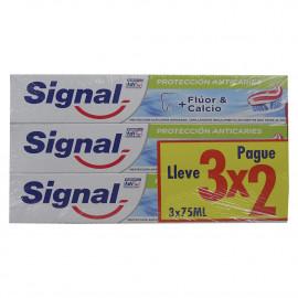 Signal pasta de dientes pack 3X2 Protección Anticaries.