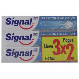 Signal pasta de dientes pack 3X2 Frescor Explosivo.
