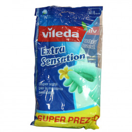 Vileda gloves extra sensation size 8 medium 1u.