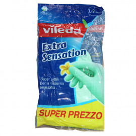 Vileda gloves extra sensation size 9 large 1 u.