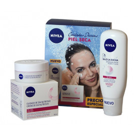 Nivea pack moisture day cream 50 ml. Dry skin + cleansing shower.