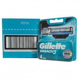 Gillette Mach 3 blades minibox 4 u.