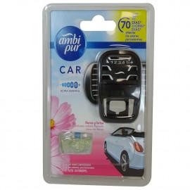 Ambipur car freshener diffuser + refill 7 ml. Flowers & breeze.