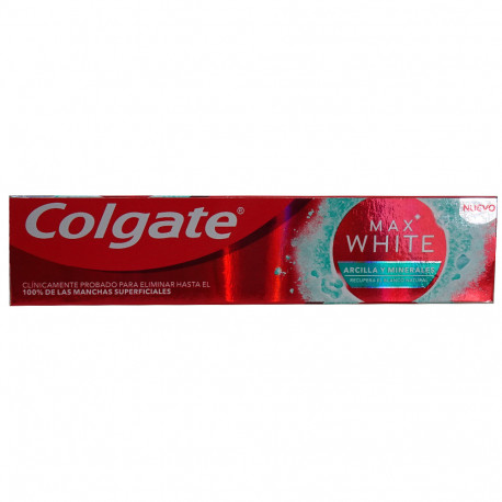 Colgate toothpaste 75 ml. Max white clay & minerals.