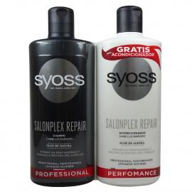 Syoss shampoo 440 ml. + conditioner 440 ml. Salon plex repair.