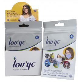 Lov'yc gamuza antivaho reutilizable para gafas 1 u.