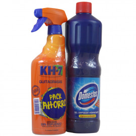 KH7 Quitagrasas 750 ml. + Domestos 1250 ml.