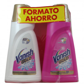 Vanish Oxi Action gel Gold white 940 ml. + Vanish gel rosa 940 ml.