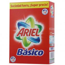 Ariel detergente en polvo Básico 975 gr. 15 dosis.