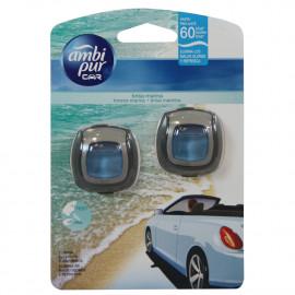 Ambipur Car clip 2 X 2 ml. Sea breeze.