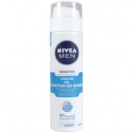 Nivea shave gel 200 ml. Sensitive cool.