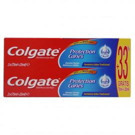 Colgate pasta de dientes 2X100 ml. Protección caries.