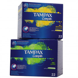 Tampax Compak Mixed 8 u. Regular + 8 u. Super.