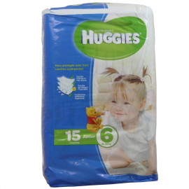 Huggies nappies Junior size 6, 16-30 kg. 15 u.