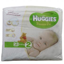 Huggies nappies newborn size 2, 3-6 kg. 23 u.