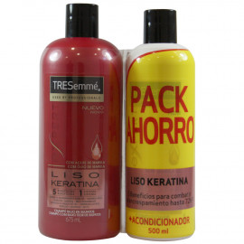 Tresemmé shampoo 675 ml. + Conditioner 500 ml. Smooth Keratin.