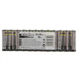 Pilas premium alcalina LR6 12 u.