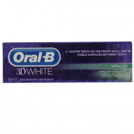Oral B toothbrush 75 ml. 3d White.